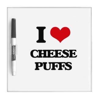 Amo soplos del queso tableros blancos