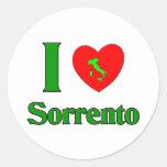 Amo Sorrento Italia Pegatina Redonda