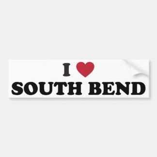 Amo South Bend Indiana Etiqueta De Parachoque
