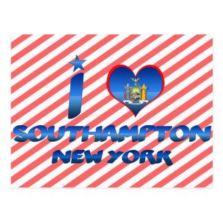 Amo Southampton, Nueva York Tarjeta Postal