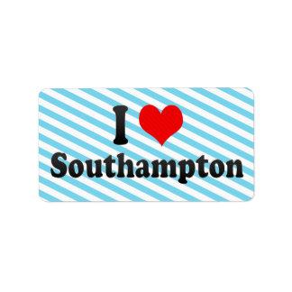 Amo Southampton, Reino Unido Etiquetas De Dirección