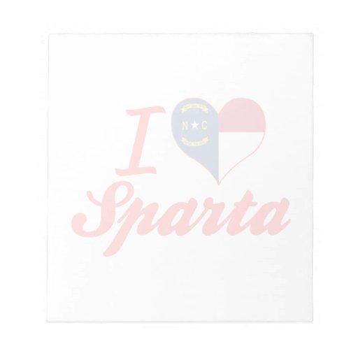 Amo Sparta, Carolina del Norte Blocs De Notas