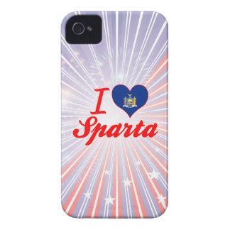 Amo Sparta, Nueva York iPhone 4 Case-Mate Protector