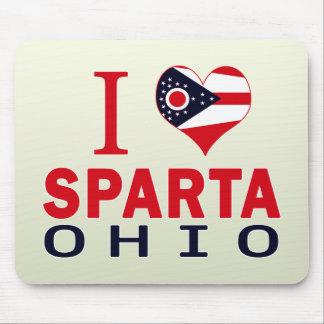 Amo Sparta Ohio Alfombrillas De Ratón
