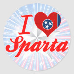 Amo Sparta, Tennessee Etiquetas Redondas