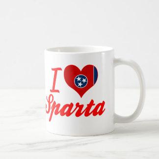 Amo Sparta, Tennessee Taza Básica Blanca