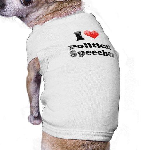 AMO SPEECHES.png POLÍTICO Camisa De Mascota