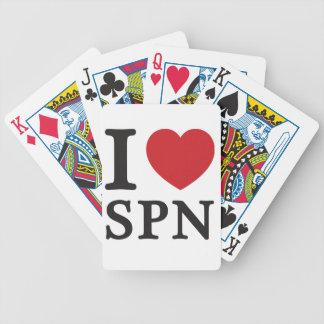 Amo SPN el corazón rojo Cartas De Juego