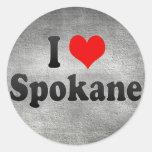 Amo Spokane, Estados Unidos Etiqueta Redonda