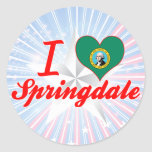 Amo Springdale, Washington Etiqueta Redonda