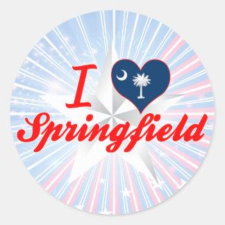 Amo Springfield, Carolina del Sur Pegatina Redonda