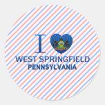 Amo Springfield del oeste, PA Pegatina Redonda