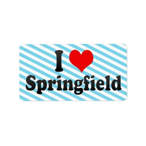 Amo Springfield, Estados Unidos Etiquetas De Dirección