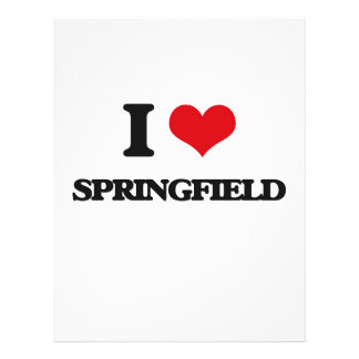 Amo Springfield Tarjeta Publicitaria