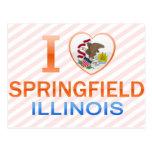 Amo Springfield, IL Tarjetas Postales