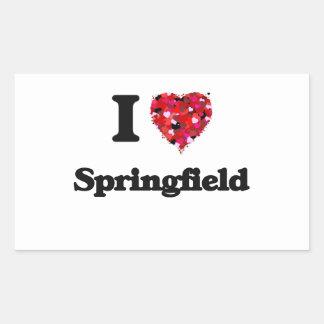 Amo Springfield Illinois Pegatina Rectangular