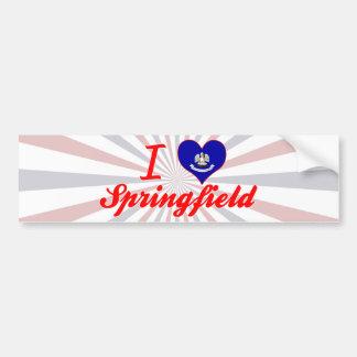 Amo Springfield, Luisiana Pegatina Para Auto