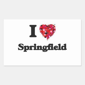 Amo Springfield Massachusetts Pegatina Rectangular