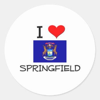 Amo Springfield Michigan Etiquetas Redondas