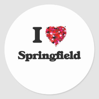 Amo Springfield Missouri Pegatina Redonda