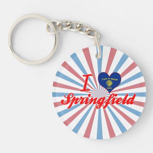 Amo Springfield, Oregon Llavero Redondo Acrílico A Una Cara