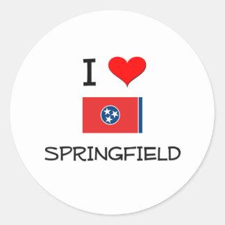 Amo Springfield Tennessee Pegatinas