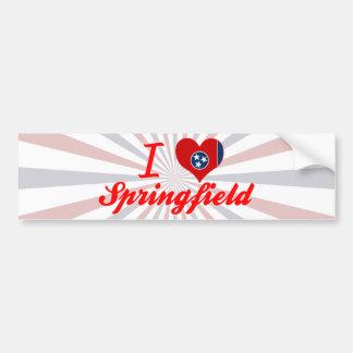 Amo Springfield, Tennessee Pegatina Para Auto