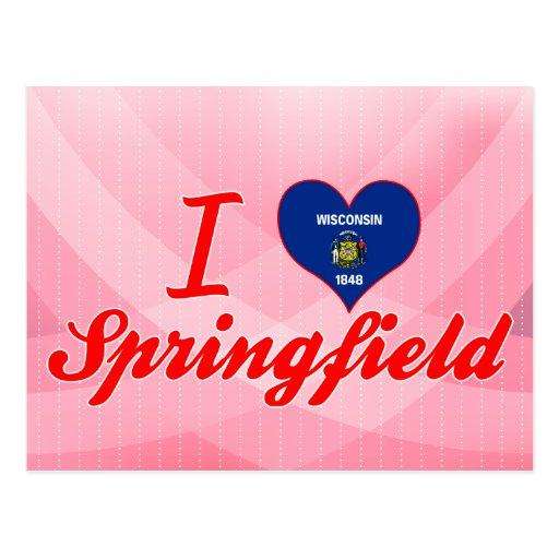 Amo Springfield, Wisconsin Tarjetas Postales