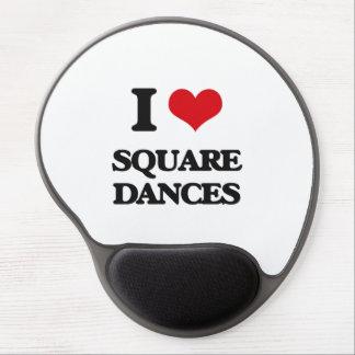 Amo squares dances alfombrillas con gel