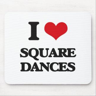Amo squares dances tapete de raton
