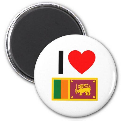 amo Sri Lanka Imán Redondo 5 Cm
