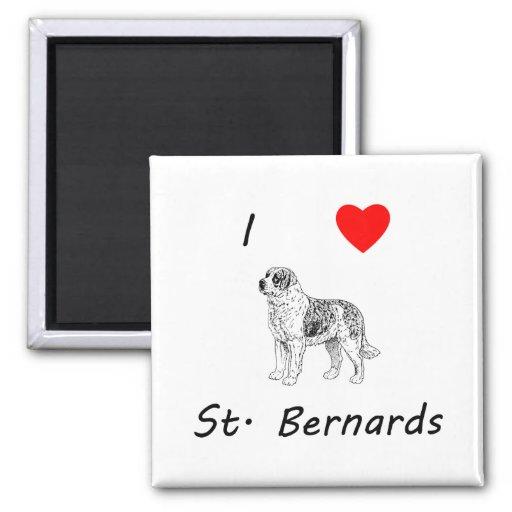 Amo St. Bernards Imanes De Nevera