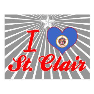Amo St. Clair, Minnesota Tarjetas Postales
