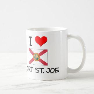 Amo ST. JOE la Florida del PUERTO Tazas De Café