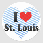 Amo St. Louis Pegatinas Redondas