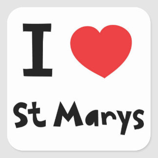 Amo St Marys, islas de Scilly Pegatina Cuadrada