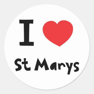 Amo St Marys, islas de Scilly Pegatina Redonda
