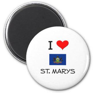 Amo St. Marys Pennsylvania Imán Redondo 5 Cm