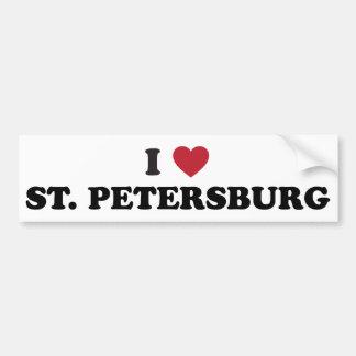 Amo St Petersburg la Florida Pegatina Para Auto