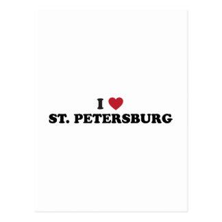 Amo St Petersburg la Florida Tarjetas Postales
