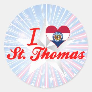 Amo St Thomas, Missouri Pegatina Redonda