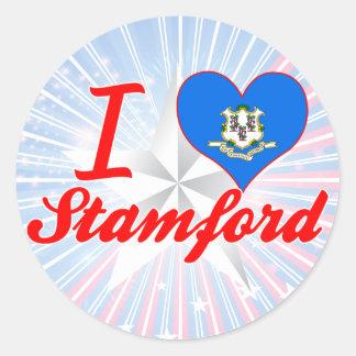 Amo Stamford, Connecticut Etiquetas Redondas