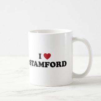 Amo Stamford Connecticut Taza Básica Blanca