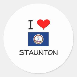 Amo Staunton Virginia Etiqueta Redonda