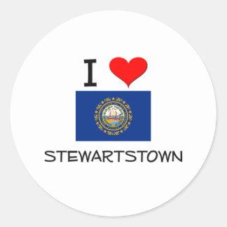 Amo Stewartstown New Hampshire Etiqueta Redonda