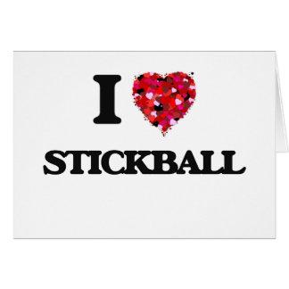 Amo Stickball Tarjeta De Felicitación