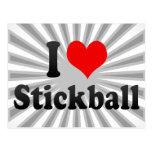 Amo Stickball Tarjeta Postal