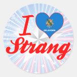 Amo Strang, Oklahoma Etiquetas Redondas