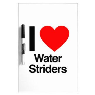 amo striders del agua pizarras blancas