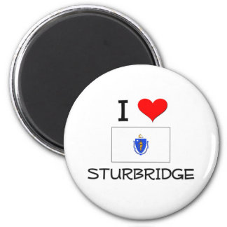 Amo Sturbridge Massachusetts Imán Redondo 5 Cm